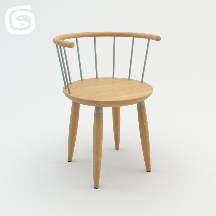 circle chair 3d max