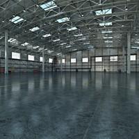 3ds max aircraft hangar