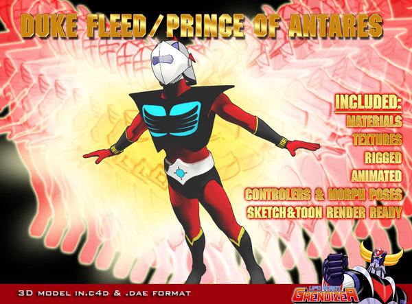 3d prince actarus d duke model