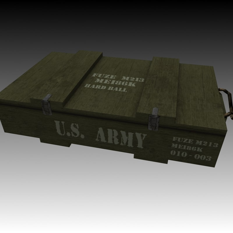 3ds max ammo crate