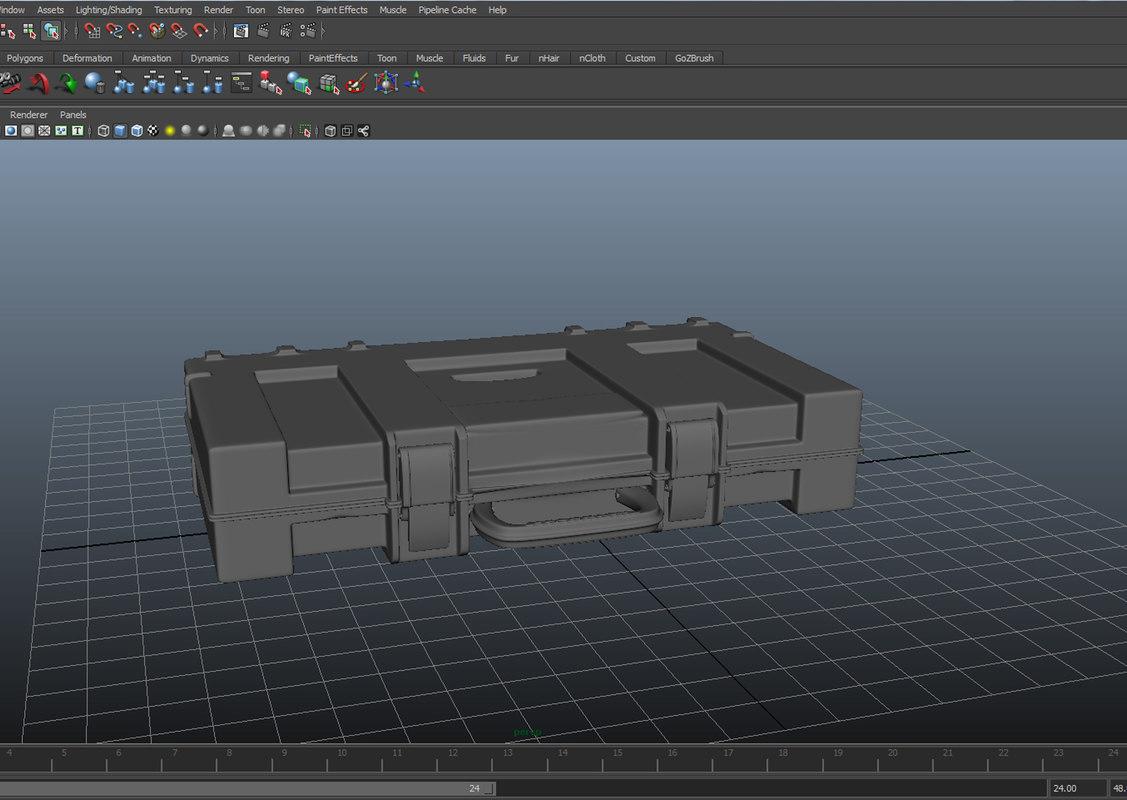 free weapons case 3d model