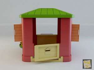 3d model toy house 2