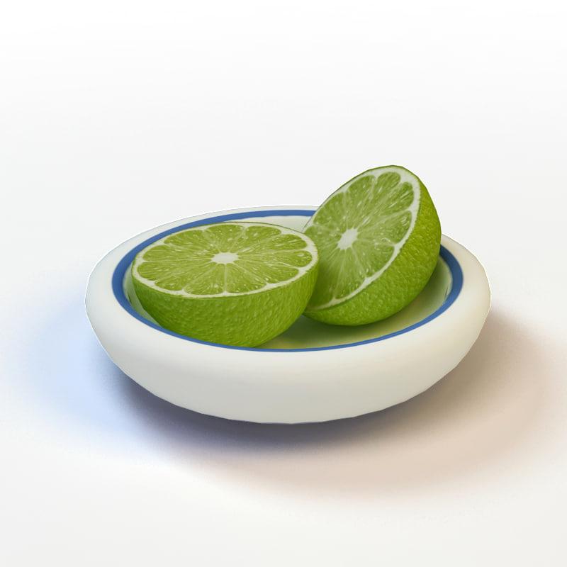 3d sliced lime model