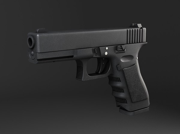 3d model pistol glock 17