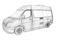 rs22 sprinter van 3d model