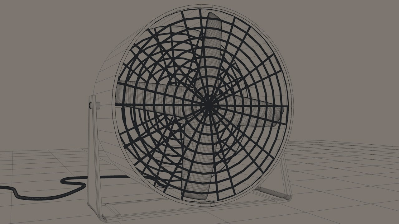 3ds max industrial fan