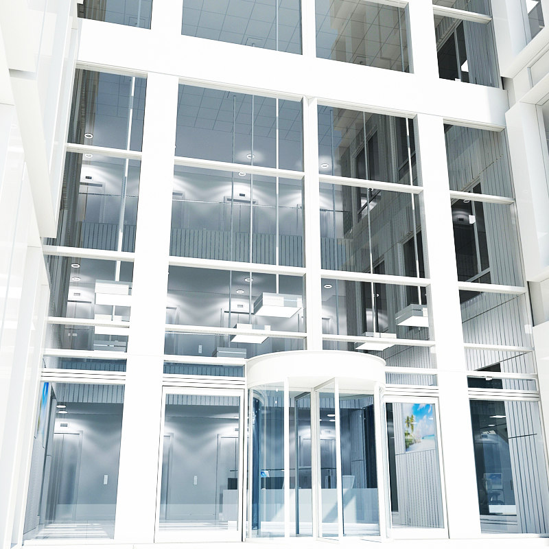 office interior space reception 3d model