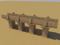 c4d puente ladrillos arena
