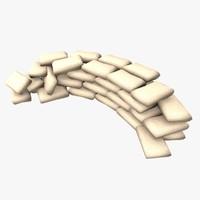 sand sandbag 3d model