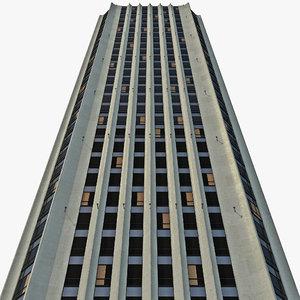 torre colpatria skyscraper 3d model