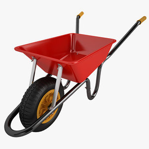 wheelbarrow barrow 3d obj