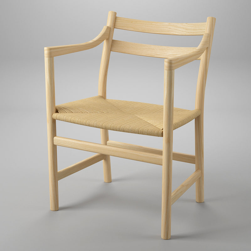 3d chair hans j wegner