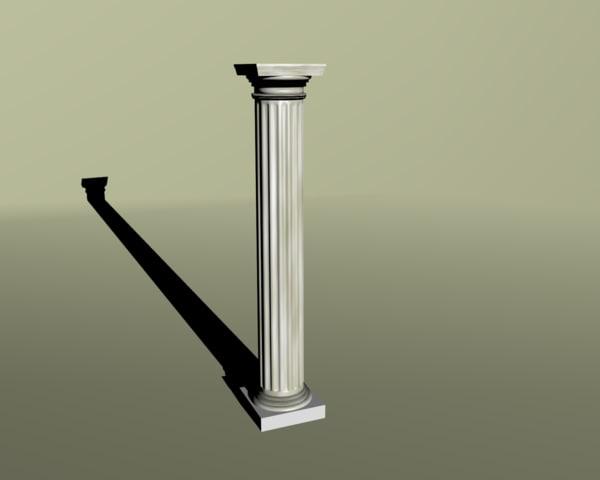 3dsmax simple classical column