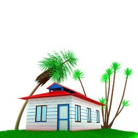 3d model small house scene