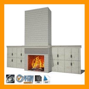 fireplace 01 3d 3ds