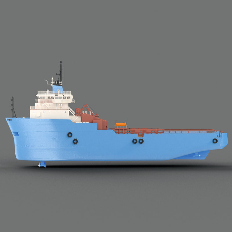 platform supply vessel 3d max