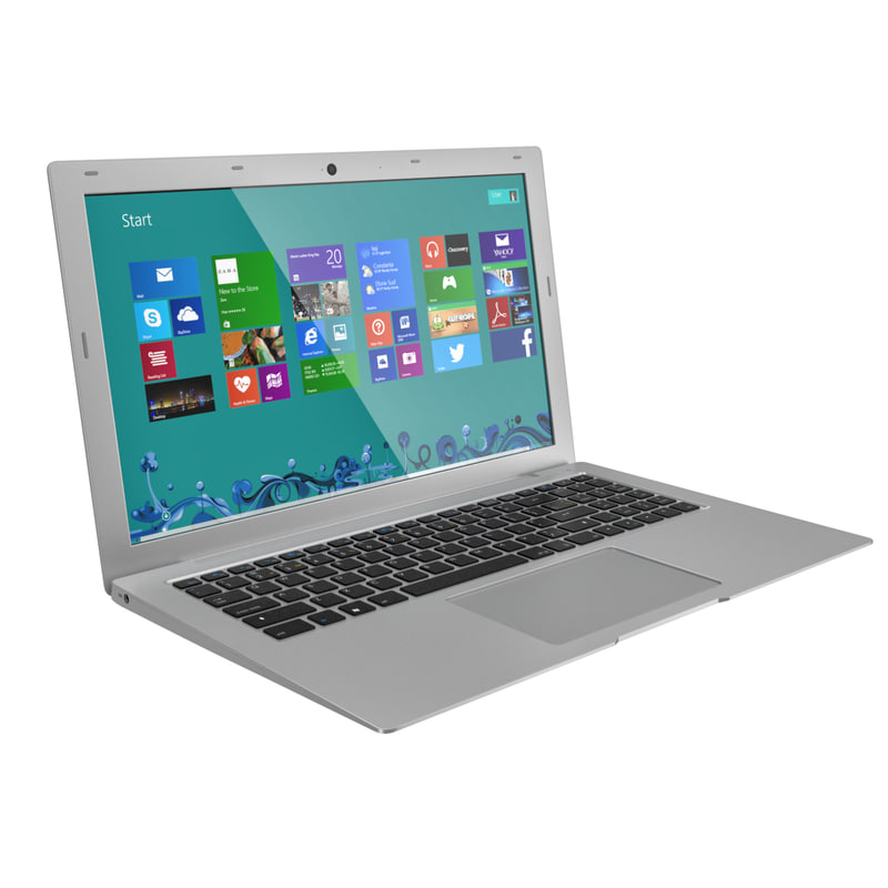 of silver laptop 15 6