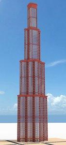 skyscraper nr 26 3d obj