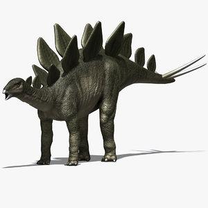 3d stegosaurus herbivore jurassic model