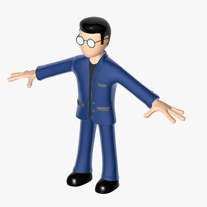 office worker 3d model