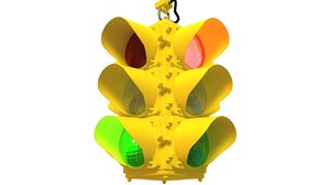 traffic signal light 3d model
