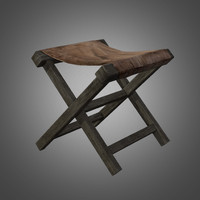 3ds max primitive old chair