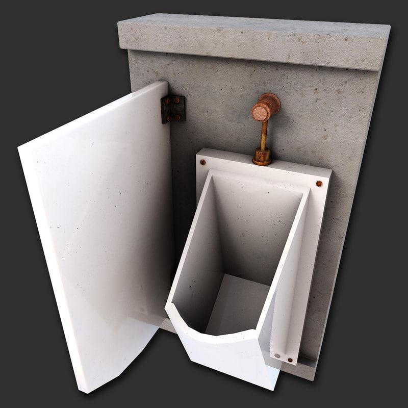 urinal plumbing fixture c4d
