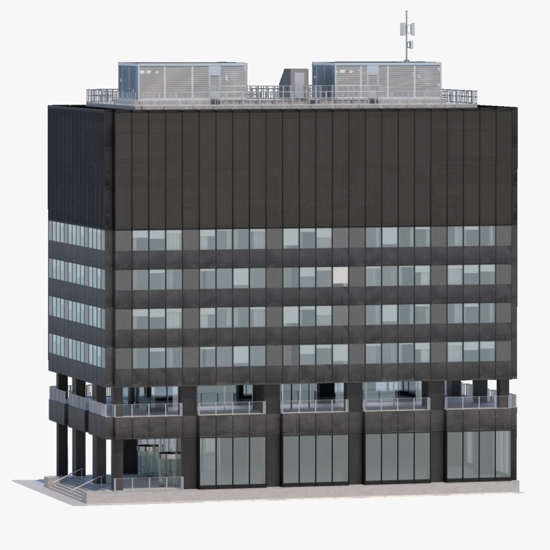 office building 3d x