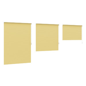 striped yellow window blinds 3d model