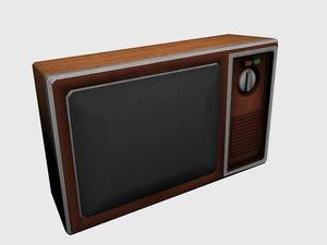 old tv set 3d model