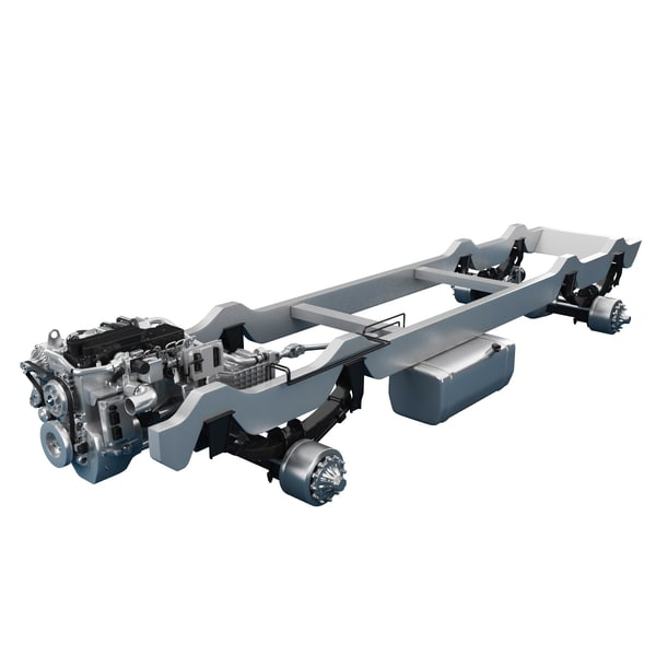 chassis truck engine 3d model