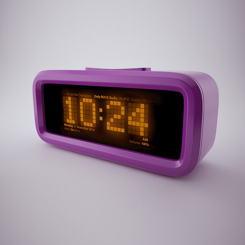 digital alarm clock max