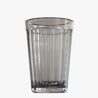 free legendary soviet table-glass 3d model