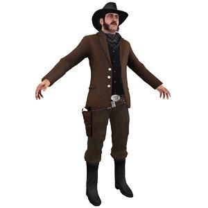 wild west cowboy 3d max