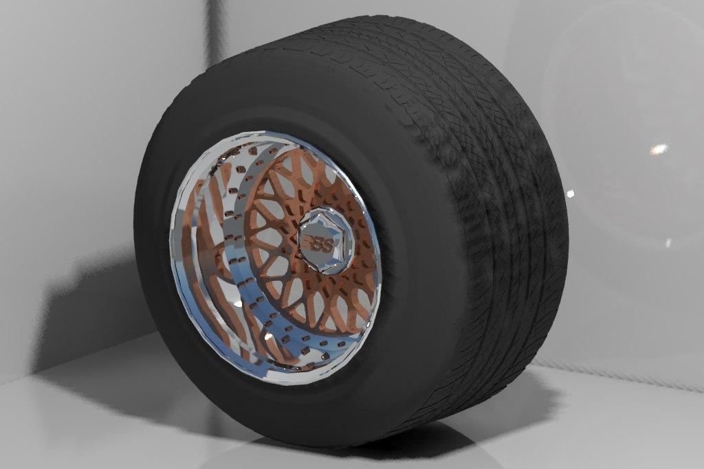 bbs rs wheels 3d model