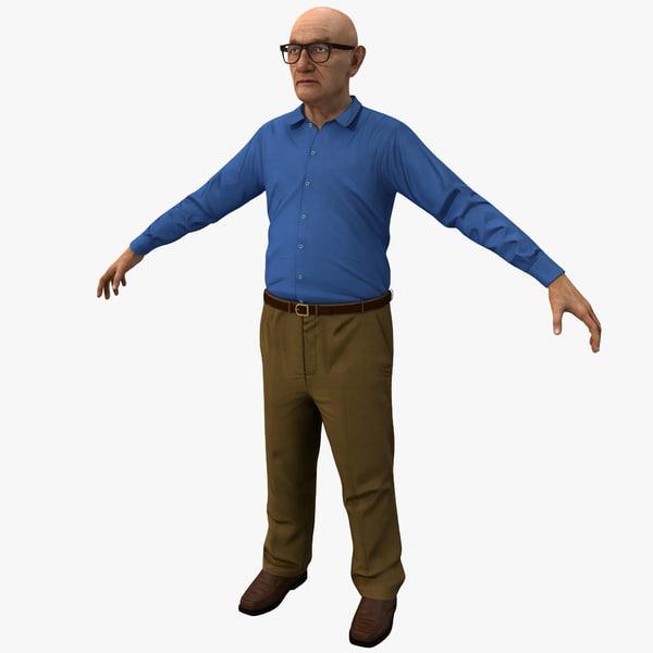 3d elderly man 2