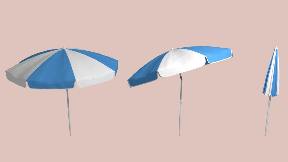 parasol umbrella beach 3d 3ds