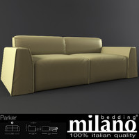milano parker sofa 3d model