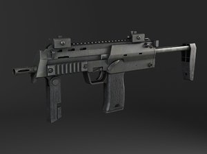 machine gun submachine c4d