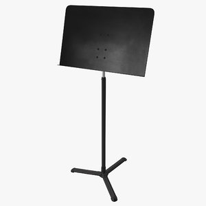 music stand 3d max