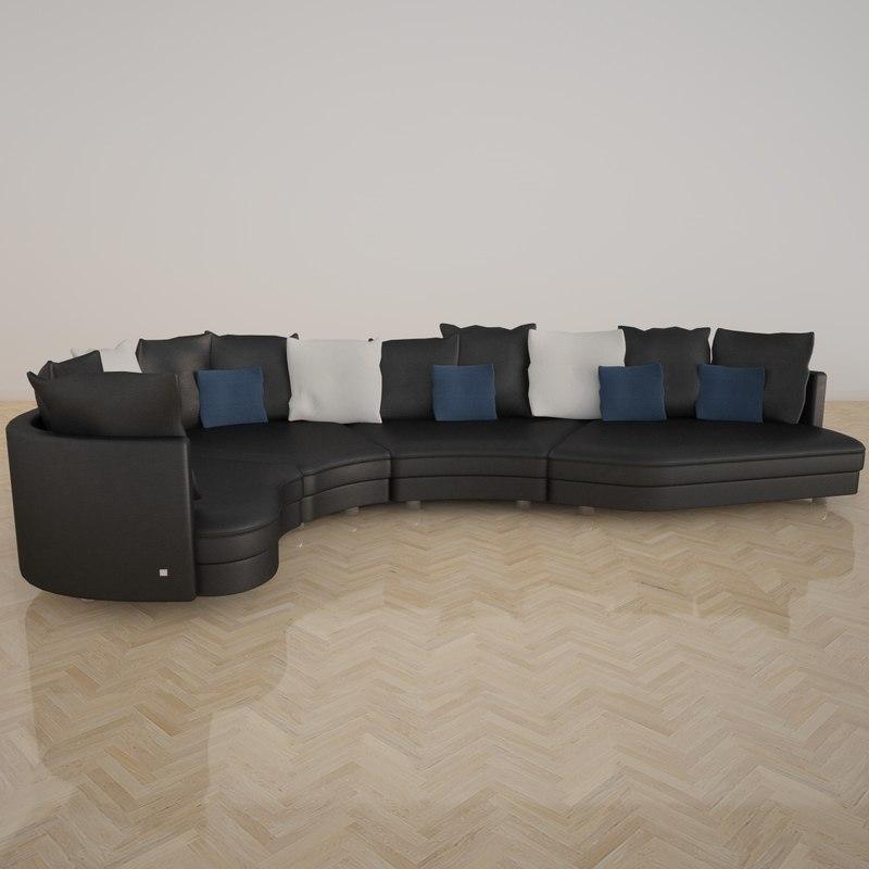 Fabulous 3d rolf benz 4500 sofa NK88