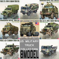 US Military Truck Collection 8 Model