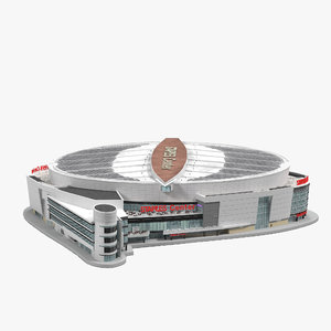 3d staples center model