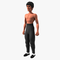 cartoon bruce lee 3d lwo