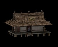 3ds max dojo building shinto