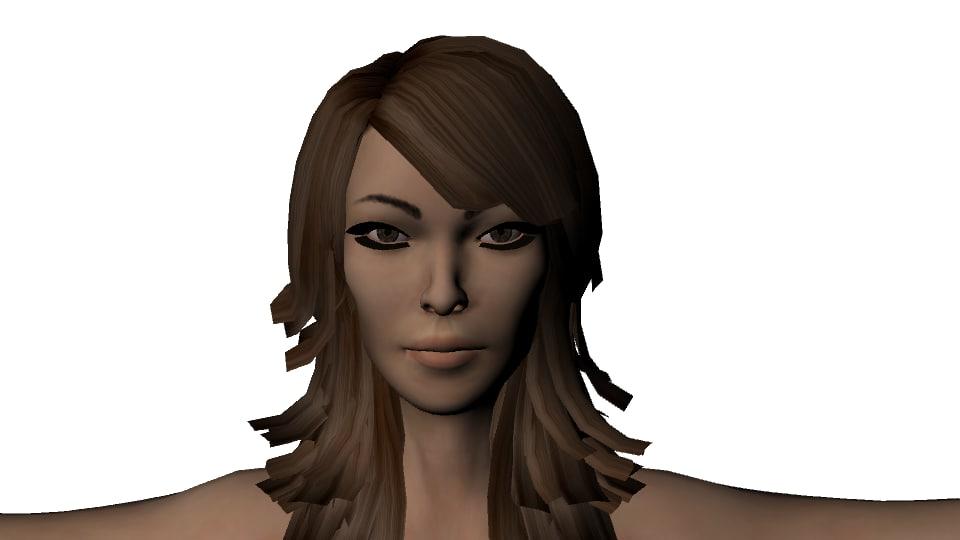 free obj mode woman female girl