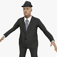 cinema4d old male character