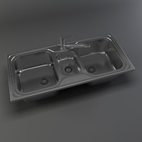 kitchen sink 3d max