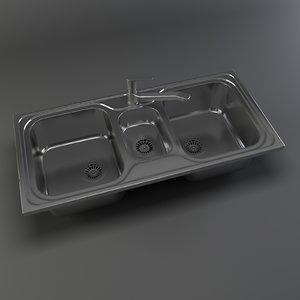 kitchen sink 3d max