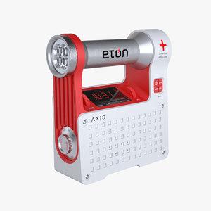 3ds max photoreal alarm clock radio